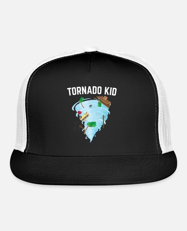 Studies Caps & Hats - Tornado Kid Future Meteorologist Weatherman Gift - Trucker Cap black/white