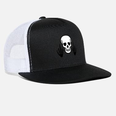 Finger Skull & Middle Finger, 2 colored - Trucker Cap