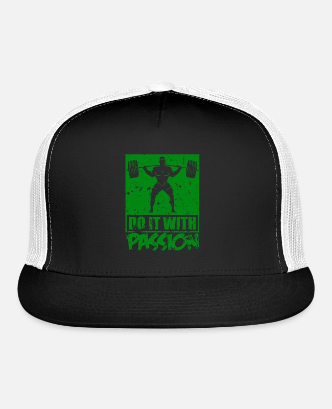 Water Sports Caps & Hats - do it with passion - Trucker Cap black/white
