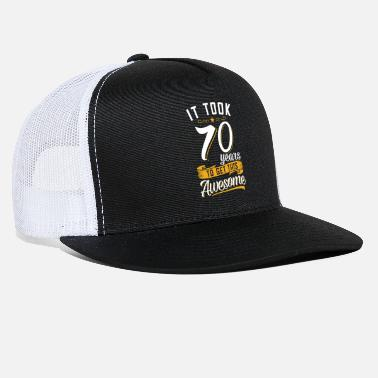 Birthday Awesome 70th birthday tshirt and gift - Trucker Cap