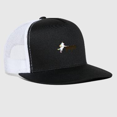 Unicorn playing Pool T-Shirt for Billiard Fans - Trucker Cap