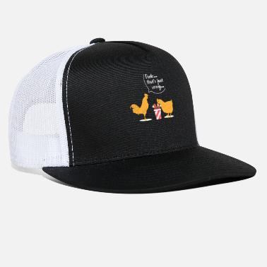 Cannibal Chicken Cannibalism Funny T-Shirt Gift - Trucker Cap