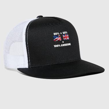 Leeds Half British Half American Totally Awesome - Trucker Cap