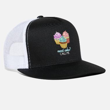 Baker Need Cake? Call Me Cupcake Baking Cooking Gift - Trucker Cap