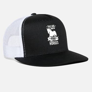 Livestock This Girl Runs On Jesus And Horses Horse Riding - Trucker Cap
