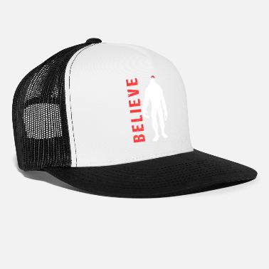 Christmas Believe Bigfoot Christmas Xmas Santa Claus Gift - Trucker Cap