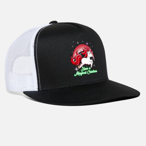 2ec206f4a376e Christmas Unicorn Gift Idea Merry Christmas Trucker Cap
