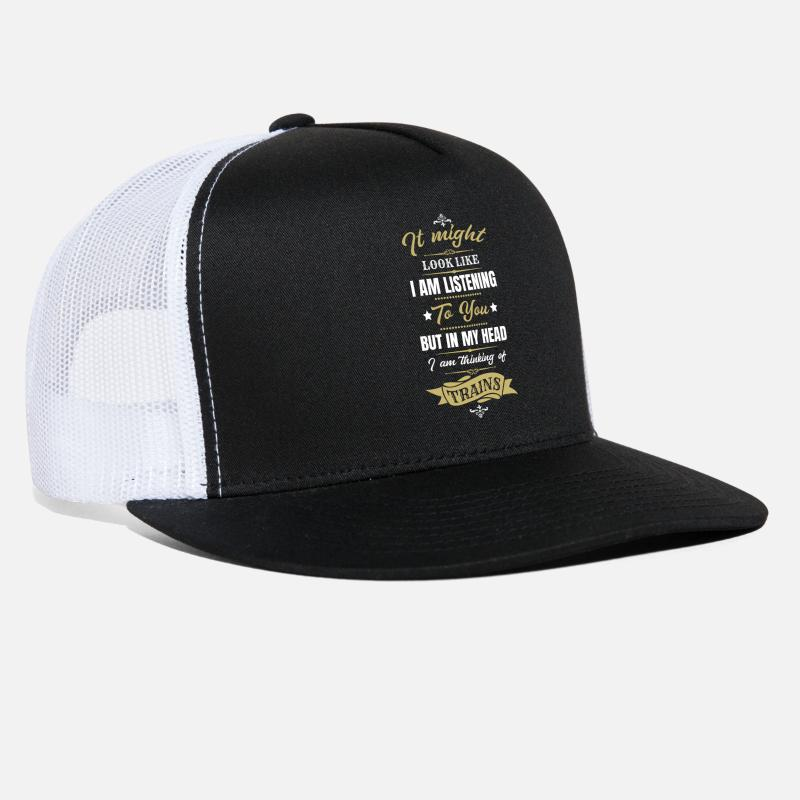 d030bf04980 Trains Caps - Trains - Trucker Cap black white