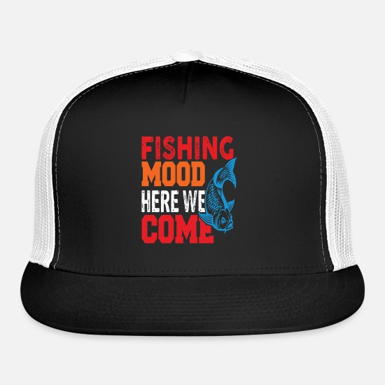Catfish Caps - Fishing mood here we come Gift Trout Catfish - Trucker Cap black/white