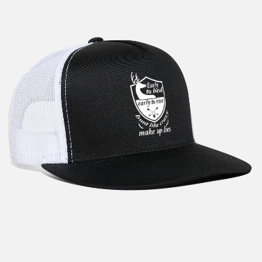 Early Early to bed early to rise white - Trucker Cap