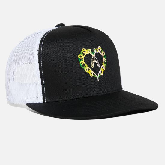 Dance Caps - Irish Step Dancing, Celtic Knot Heart Gift - Trucker Cap black/white