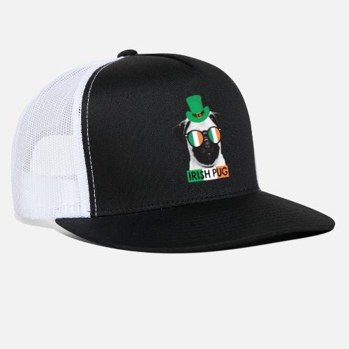 fe0bfd42798 Irish pug shirt patricks day shirt for pug trucker cap jpg 500x500 Irish pug  cap