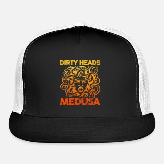 f8eb3e914c Dirty Heads Medusa Music Band Musician Fan Gift Trucker Cap ...