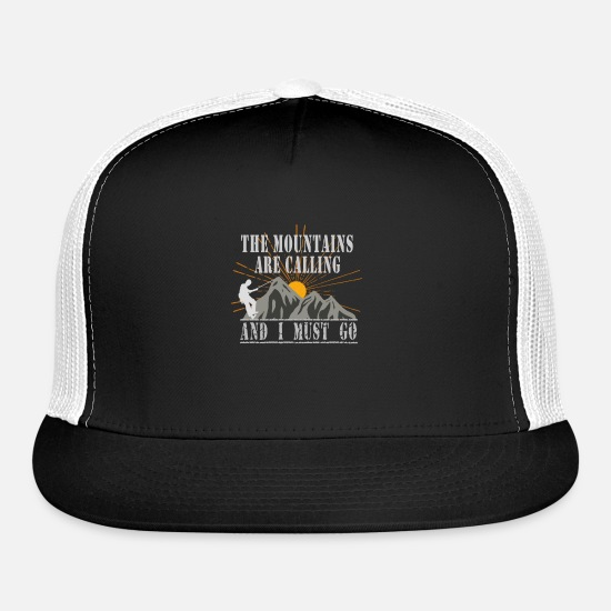 Club Caps - Mountain Climb Climbing Shirt - Trucker Cap black/white