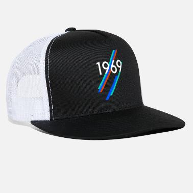 Pixelland 1969 birthday year of birth 50 years born in 69 nr - Trucker Cap