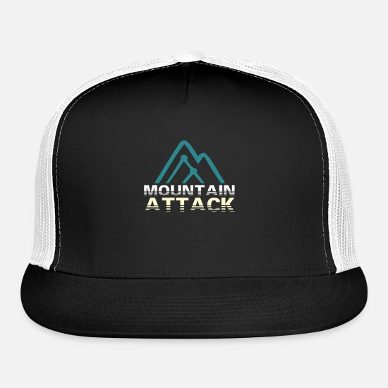 Birthday Caps - Mountain Attack - Trucker Cap black/white