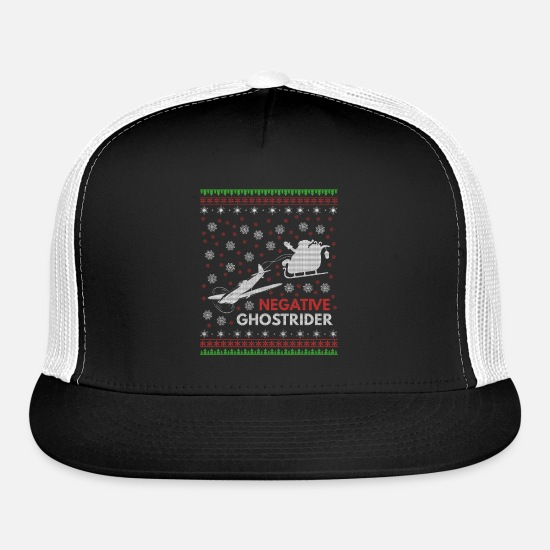 Christmas Fan Caps - Negative Ghostrider - Trucker Cap black/white