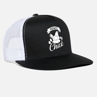 Chicken Funny Midwife Graphic Chick Chicken Egg - Trucker Cap