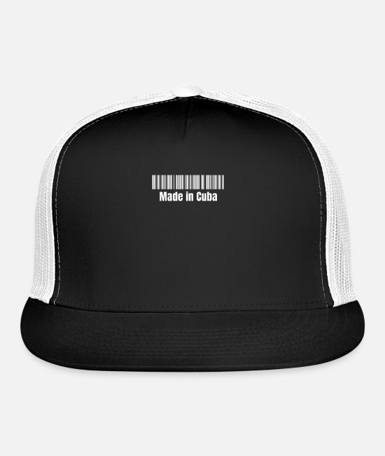 Proud Caps & Hats - Made in Cuba Barcode - Trucker Cap black/white