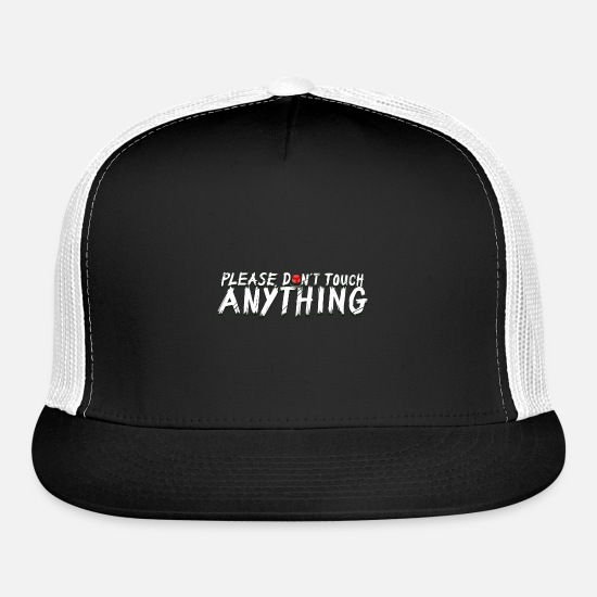 Rowdy Caps - Please don't touch anything - Trucker Cap black/white