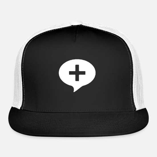 Positive Caps - Positive Symbol - Trucker Cap black/white