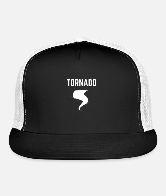 Storm Caps & Hats - tornado gift christmas tee shirt tornado alley - Trucker Cap black/white