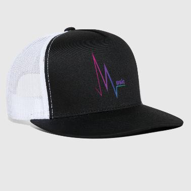Spark Music Drawing Colorful Style Party Pink Sparks - Trucker Cap