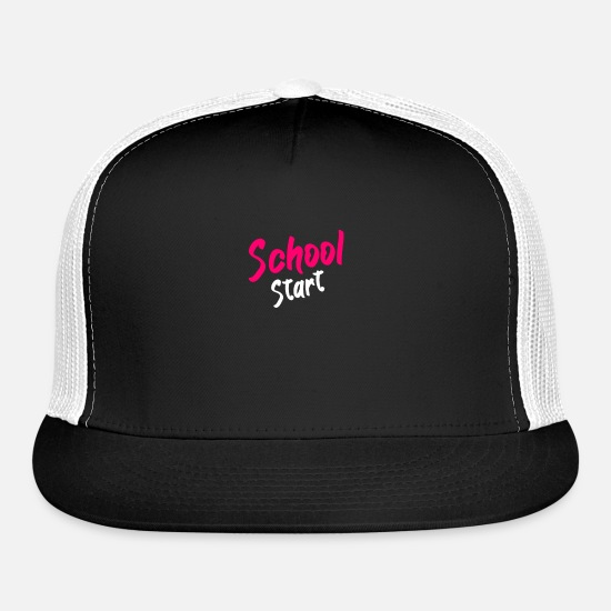 Start Of School Caps - School Start - Trucker Cap black/white