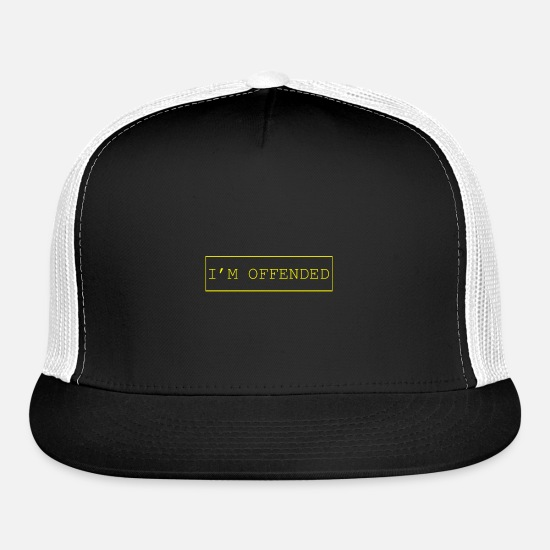 Offensive Caps - I'm attacked. - Trucker Cap black/white
