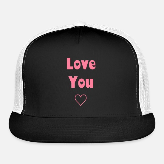 Love You Caps - Love You - Trucker Cap black/white
