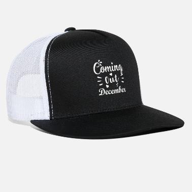 Pregnant baby comes December expectant mother - Trucker Cap