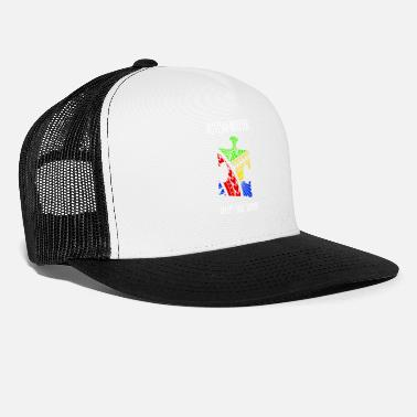 Warrior Autism Awareness Autism Warrior AcceptLoveSupport - Trucker Cap