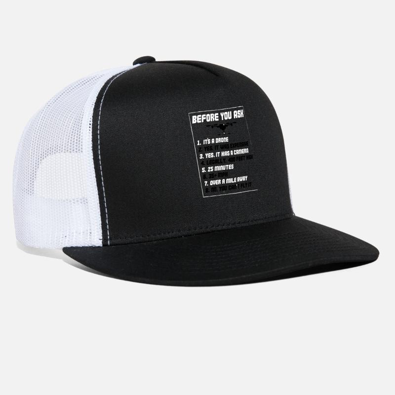 246a32c33 Funny Drone - Before You Ask Yes It Was Expensive Trucker Cap - black/white