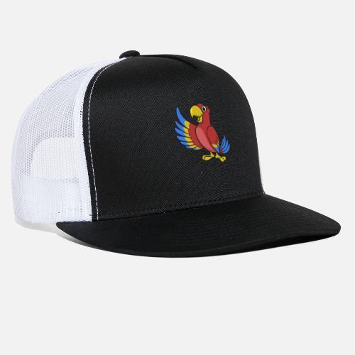 5318680f334 Parrot comic animal gift idea funny kids drawing Trucker Cap ...