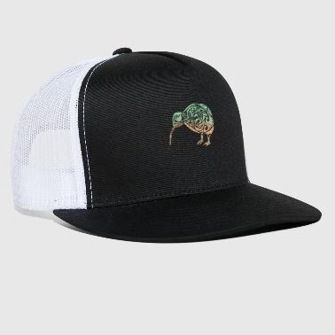 Maori Kiwi Bird Green Orange - Gift Idea - Trucker Cap