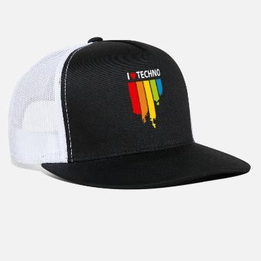 I Love Techno I love Techno Music - Trucker Cap