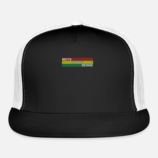Reggae Caps - Reggae Roots - Trucker Cap black/white