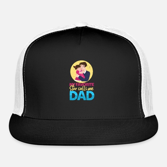 Parent Caps - Dad favorite star - Trucker Cap black/white