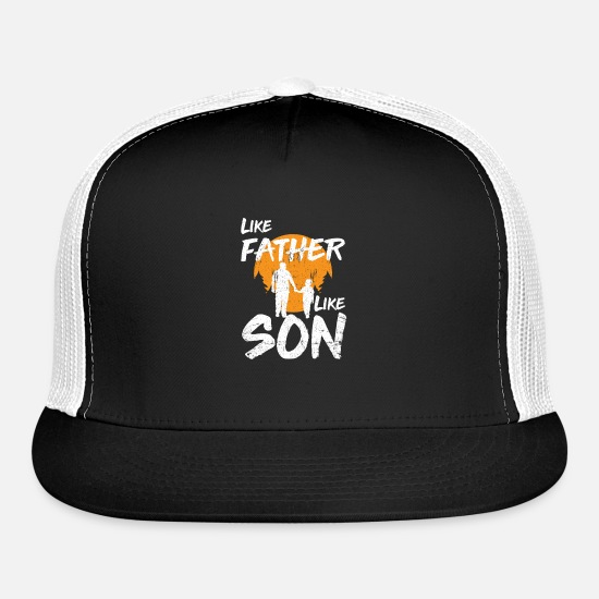 Father And Son Caps - Father and son - Trucker Cap black/white