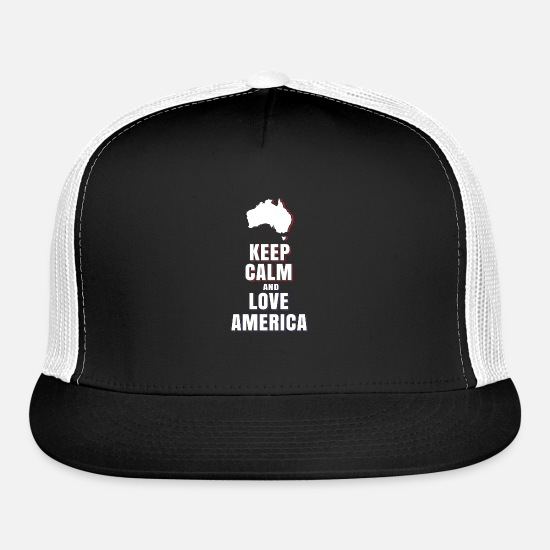 Gift Idea Caps - USA America Love - Trucker Cap black/white