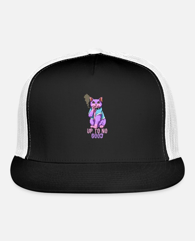 Pastel Goth Caps & Hats - Pastel Goth Cat - Nu Goth - Trucker Cap black/white