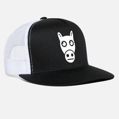 Lovely Confused Horse Cartoon - Trucker Cap