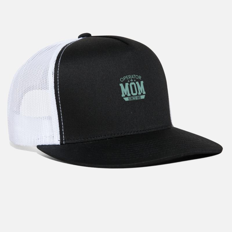 Heavy Caps - Mom Operator - Trucker Cap black white 82ba1be10a2