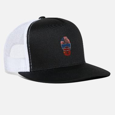California Half USA Half Chinese - Trucker Cap