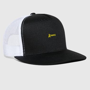Troops Thanks Troops Army Respect Ribbon Yellow - Trucker Cap