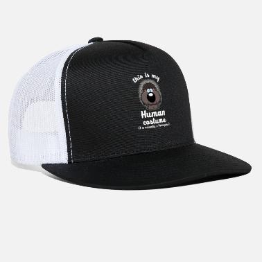 Rodent Funny Porcupine - This Is My Human Costume Humor - Trucker Cap