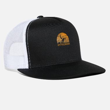 Motorcycle Motocross Sunset - Motorcycle, Dirtbike - Trucker Cap