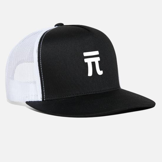 Number Caps - Pi - Trucker Cap black/white