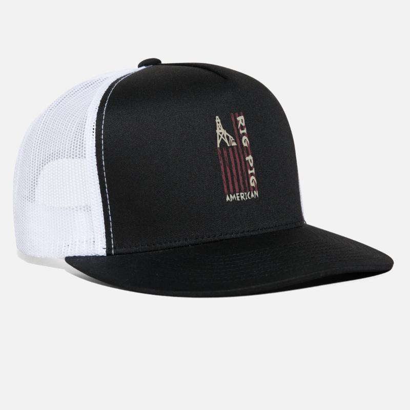 online store 64518 6e2f4 American Rig Pig Oil Worker Roughneck Trucker Cap   Spreadshirt