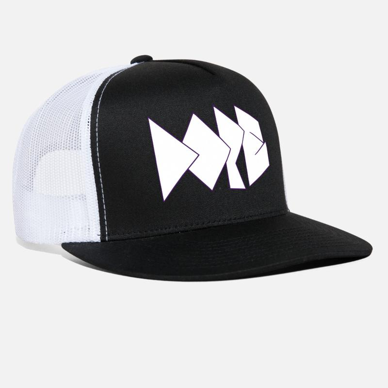 Dope Caps - Dope logo - White - Trucker Cap black/white